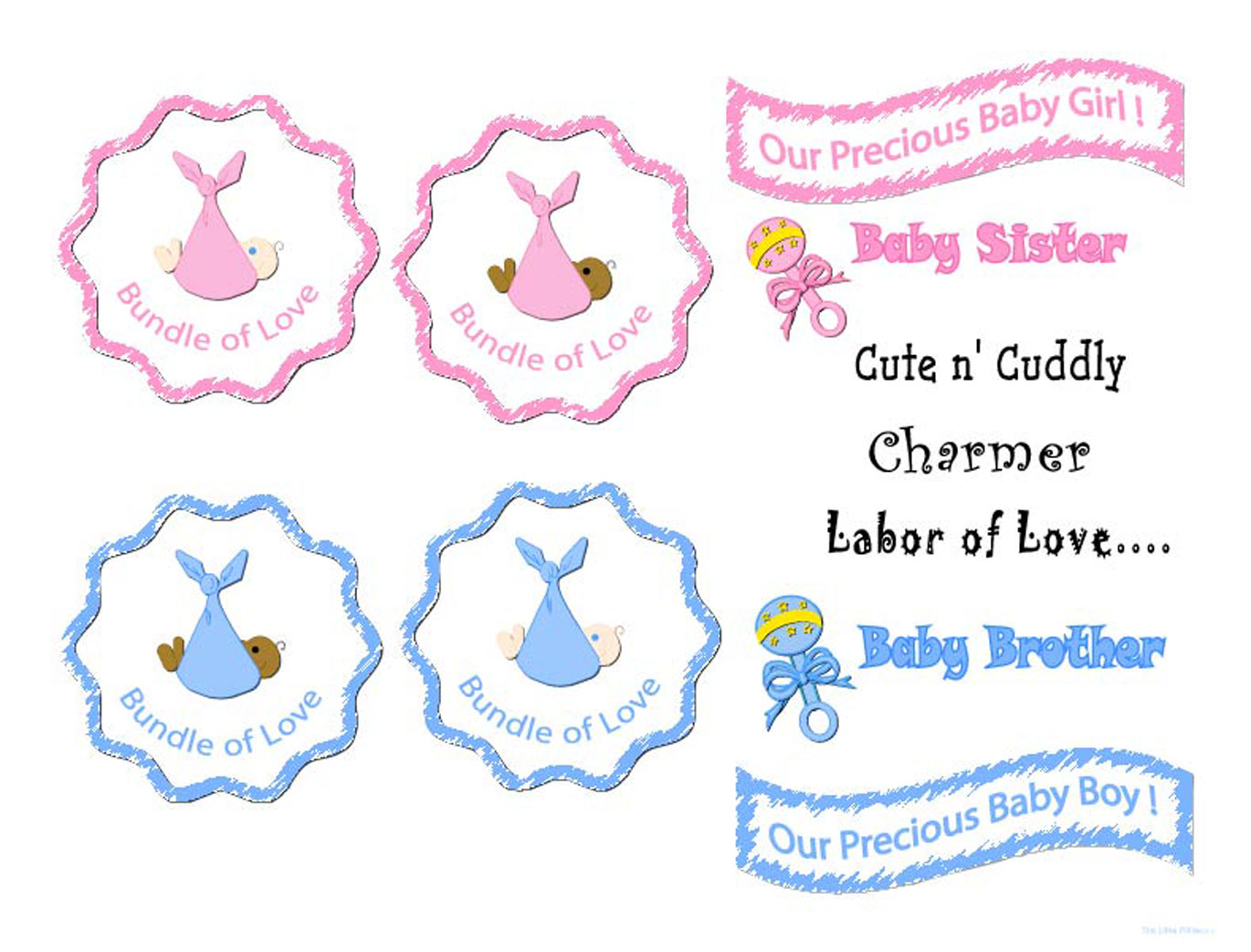 photograph relating to Baby Girl Clip Art Free Printable identified as No cost printable, electronic, sbook template internet pages, contemporary born